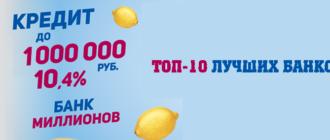 Кредит 1000000 в каком банке можно получить